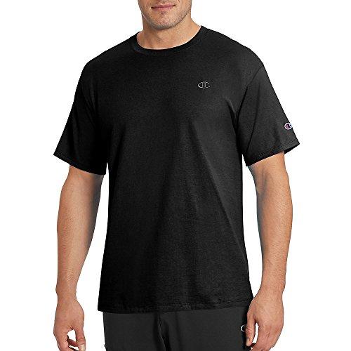 Champion Men's Classic Jersey T-Shirt, Black, 2XL