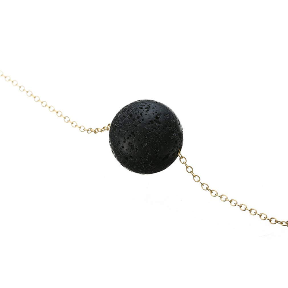 Iumer Lava Bead Stone Shape Pendant Essential Oil Diffuser Necklace,Ball by IumerIU (Image #5)