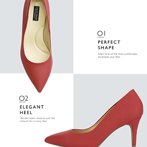 Fashion Heel Dress Red DailyShoes Pu Pump High 01 Stiletto Shoes Women's Pointed Toe Paris Classic qqxOz4CEvw