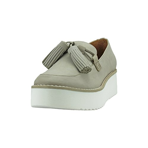 Amaris- Carrano Leather Sneakers with Tassel, Desert 8 US