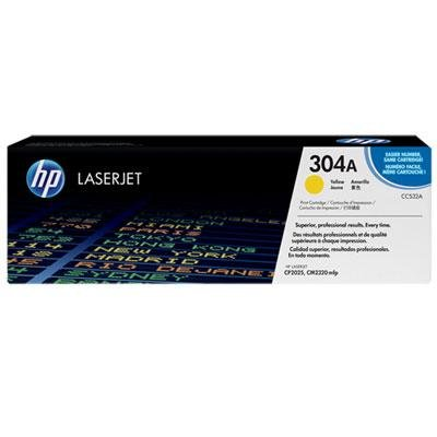 Hp Cc532a Yellow Toner - HP CC532A 304A Yellow Toner Cartridge For Color LaseJet CM2320 CP2025 - 2,800 Pages