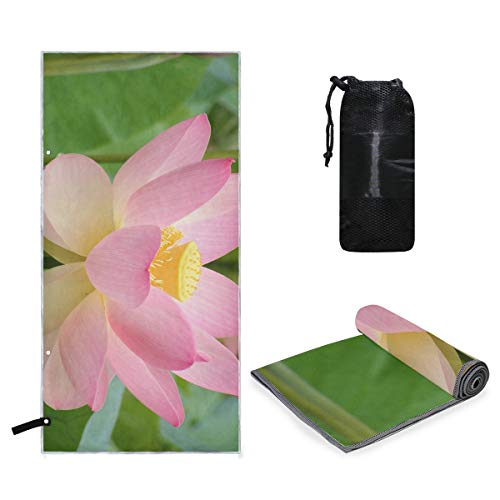 Perfectly Customized Microfiber Quick Dry Travel Large Towel Lotus On Pinterest Ideal Fast Drying Towels for Travel, Camping, Beach, Backpacking, Gym, Sports, and Swimming - Ultra Light, Absorbent ()