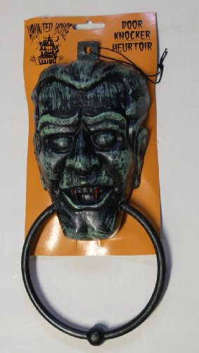 Scary & Non Scary Halloween Decorations (Plastic Spooky Halloween Door Knocker # 1)