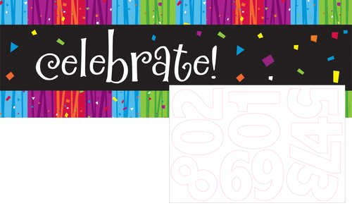 Giant Party Banner with Stickers, Milestone Celebrations