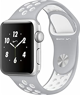 Apple Watch Nike+ 38mm Silver Aluminum Case Flat Silver/White Nike Sport Band