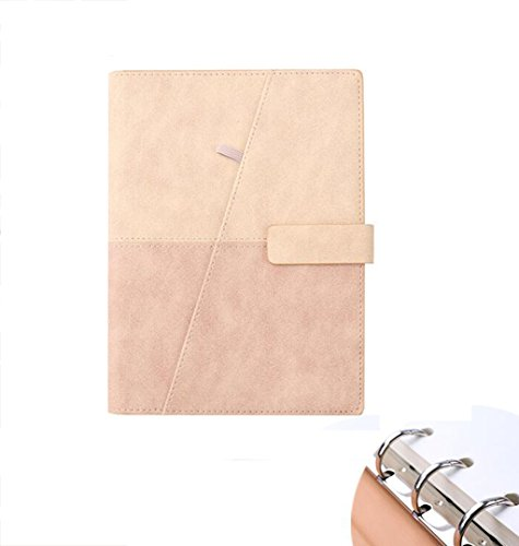 Diario De Viaje del Cuaderno Carpeta De Anillas Oficina Oficina De Cuero De La Oficina S Hoja Suelta A5 Papel De Tapa Dura...