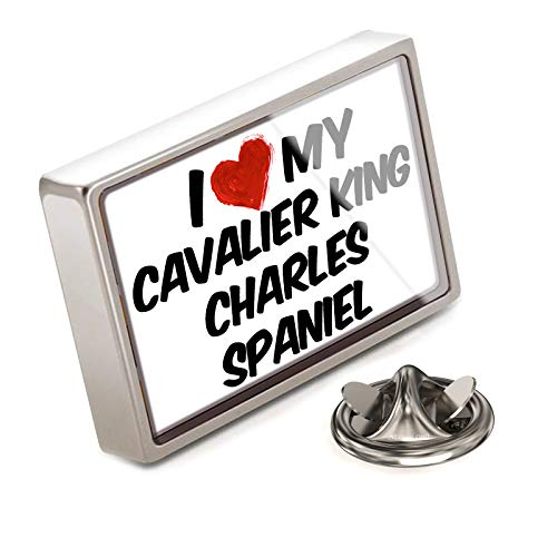 NEONBLOND Lapel Pin I Love My Cavalier King Charles Spaniel Dog from England