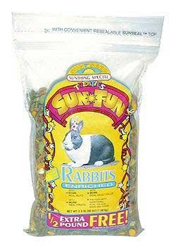 Sunseed Sun Fun - Rabbit - 3.5 lbs (Rabbit Sun Fun Mix)