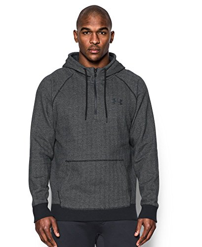 Under Armour Men's Rival Fleece ½ Zip Hoodie, Asphalt Heather (005), XX-Large