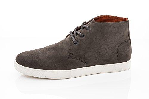 Franco Vanucci Hombres Casual Encaje Hasta Chukka Moda Zapatillas De Deporte Vegano Chukka Zapatos Chucca-1 (gris)