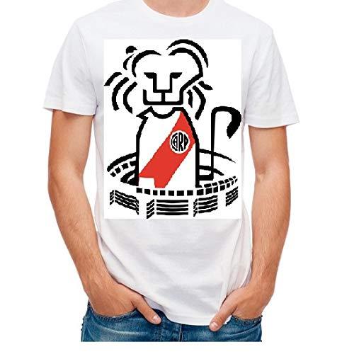 Valentina Camiseta River Plate Monumental Manga Corta 100% Algodón (XL)