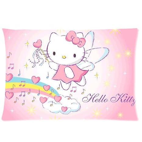 2030 Funda cojín, Carcasa de Hello Kitty con cremallera de ...