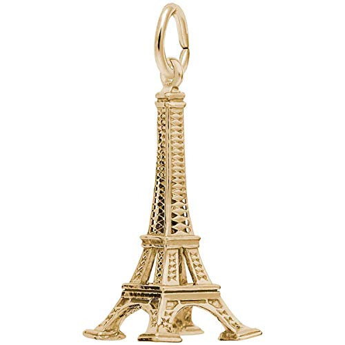 Rembrandt Charms Eiffel Tower Charm, 10K Yellow Gold