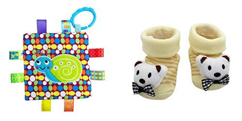 New Cute Baby Polar Bear Socks & Little Taggie Snail Blanket Theme 2-Pack 3-12 Months w/Gift -