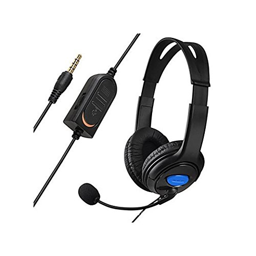 Over-Ear Gaming Headphones,Feicuan Stereo Headsets Wire Control Earphones with Mic Sound Mute and Volume Control for PS4 Xbox One Gaming -Blue Review