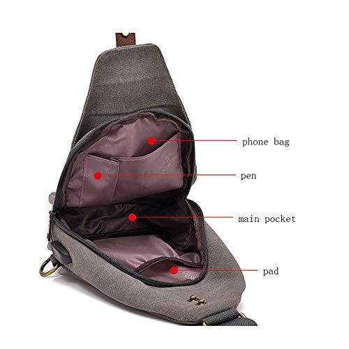 For Shoulder And Running Bonane Travel Sling Hiking Outdoor Khaki Unbalance Backpack Climbing 73 Chest Bag Crossbody Cycling Women Bn Men xZq0AIwqgW