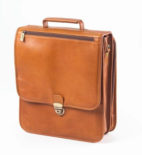 Clava Box (Clava 4057TAN Upright Vertical Leather Brief - Tan)