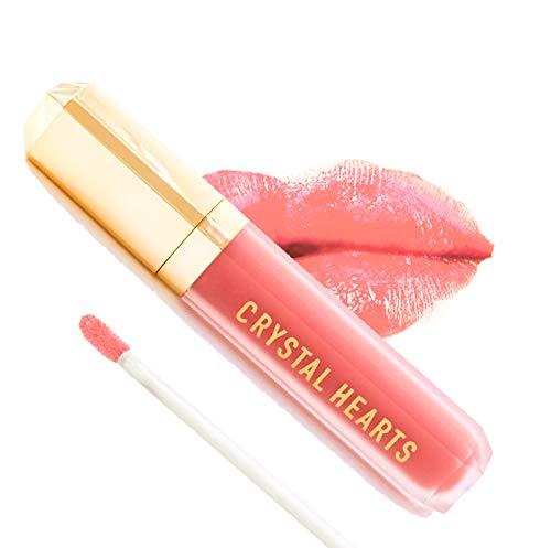 CrystalHearts Matte Liquid Lipstick - Long-Lasting and Non Transfer Kiss Proof Makeup Lip Gloss- Cruelty & Paraben Free Hydrating Lip - Made in USA - Liquid Kiss Gloss Lip
