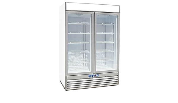 Congelador tipo armario de 2 puertas para vino y bebidas 1236Lt ...