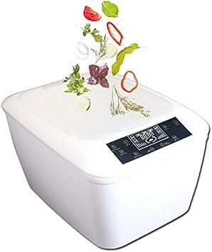 KOUQI Vegetal Inteligente Máquina Lavadora, Marisco Máquina De Limpieza, Hogar Automático por Ultrasonidos Máquina De Limpieza, LED Panel De Control Inteligente