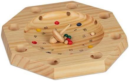Relaxdays, 3x28 cm Ruleta de Madera Tirolesa, para niños y Adultos, Marrón Natural: Amazon.es: Juguetes y juegos