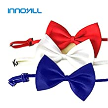 INNO+ALL, Adjustable Bow Ties for Dogs/Cats/Pets/Small animals (Blue / White / Red)