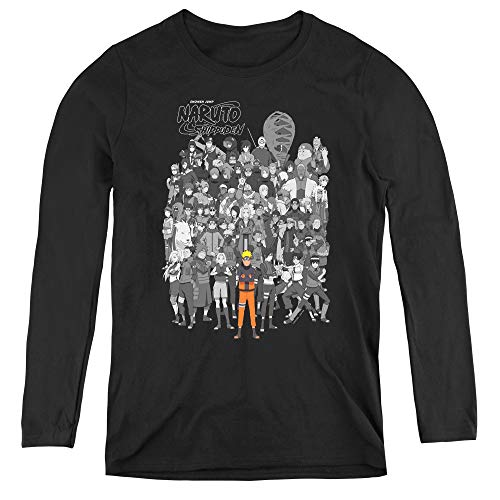 Naruto Characters Adult Long Sleeve T-Shirt for Women, X-Large -