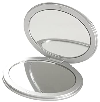 5d6a544276 Amazon.com : Danielle Oval Compact Mirror, Silver : Personal Mirrors :  Beauty