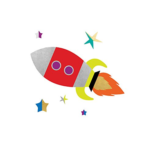 - SPACE EXPLORER ROCKET SHIP party tats set of 25 premium Fun Tats kids waterproof temporary colorful space Flash Tattoos-party favors, party decor