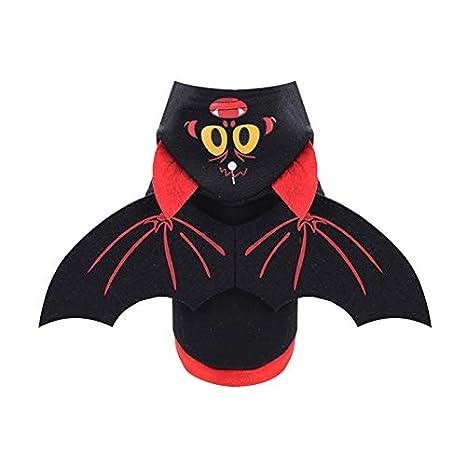 YINGBO Sudadera para Mascotas Disfraz de Halloween Batman con alas ...