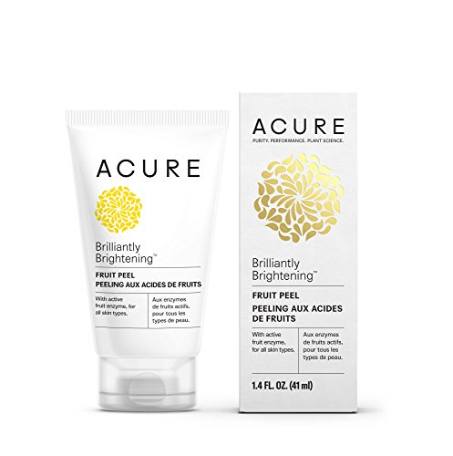 Enzyme Brightening (Acure Brilliantly Brightening Fruit Peel, 1.4 Fluid Ounce (Packaging May Vary))