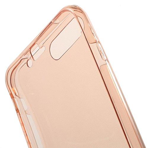 König-Shop Full TPU Case für Apple iPhone 8 Plus Schutz Hülle Handy Pink Rahmen Cover 360