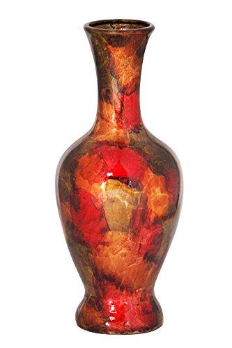 Heather Ann Creations Mary Ceramic Vase Decorative Amphora Heart, (Bronze Floor Vases)