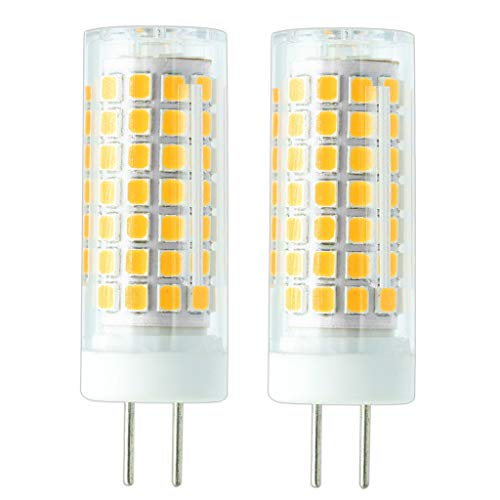 750LM Bi-pin Base AC 110V to 265V Voltage Application, G6.35/GY6.35 Base Halogen 80W Replacement Bulb,2700K Warm White (Pack of 2) ()