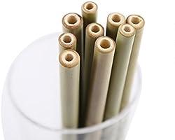 Pajitas de madera de bambú biodegradables reutilizables para ...