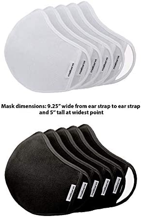 (5 Pack Pieces per Box) Craft & Soul Mattana Face Mask Cover Reusable Washable Comfortable Fabric Cloth