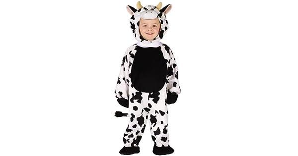 Amazon.com: Disfraz de vaca de peluche, 3T-4T, Negro/Blanco ...