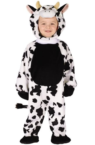 Fun World Cuddly Cow Toddler Costume- One Size Multicolor 116921
