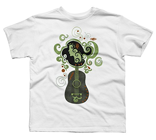 Guitar portrait Boy's X-Small White Youth Graphic T Shirt - Design By Humans