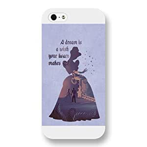 Customized White Frosted Disney Princess Cinderella Case For Sam Sung Galaxy S4 Mini Cover