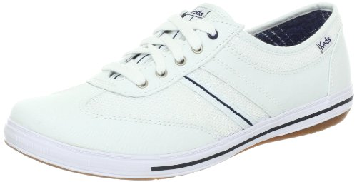 Keds Women's Sportive T Toe,White Twill,US 7 M