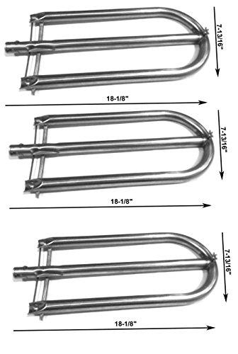 Grill Burner For Alfresco AGBQ-56C, AGBQ-56RFG, AGBQ-56SZ, AGBQ-56BFG, AGBQ-56BFGC, AGBQ-56SZC, AGBQ-30C, AGBQ-30CD Gas Models- 3Pack (Grills Alfresco Bbq)