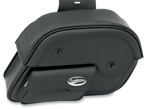 Saddlemen 3501-0384 Cruis'n Large Slant Face Pouch Saddlebag (Large Slant Saddlebags)
