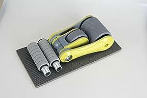 Rueda Abdominal Plegado Equipo Portátil Y Fácil De Usar De La Aptitud Para El Rodillo Abdominal Rueda De Deportes Al Aire Libre,Yellow