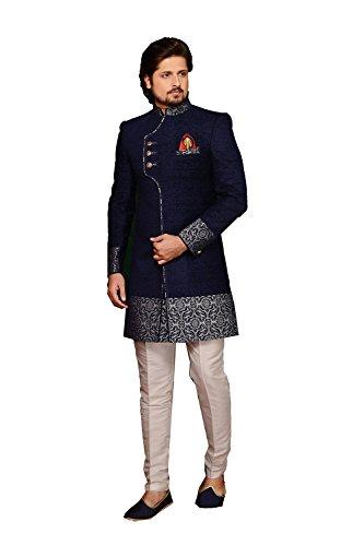 Da Facioun Indian Designer Partywear Ethnic Traditional Neavy Blue Mens Wear Indo Western. by Da Facioun