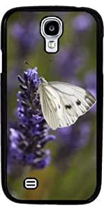 Case for Samsung Galaxy S4 Mini (GT-I9195) - White butterfly on lavender by ruishername