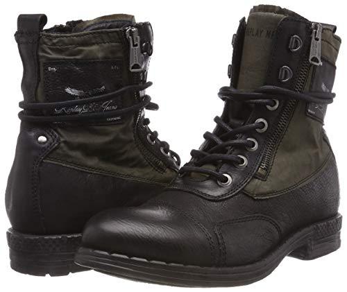 Army Negro Wickham Para Replay Black Botas Hombre Gr 91 Motero qHxOwtqY0