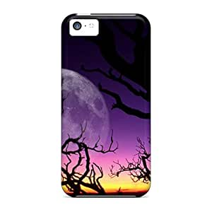 Awesome Fantasy Night Flip Cases With Fashion Design For Iphone 5c