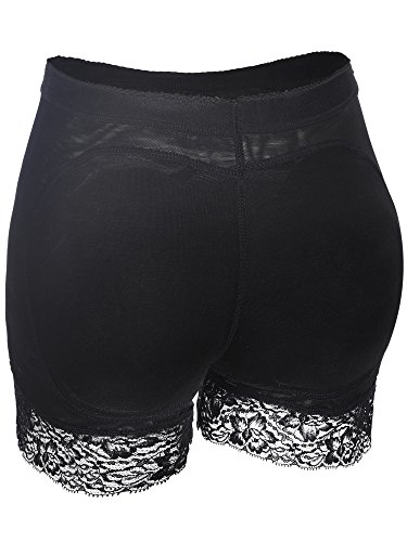 (Jovitec Butt Lifter Shapewear Lace Underwear Hip Enhancer Boyshort Lace Padded Panties Fake Buttock Briefs for Women Favors (S,)
