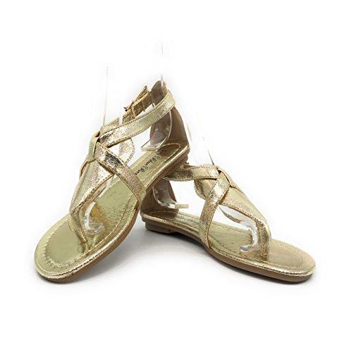 05 Gold Women Sandal - 3